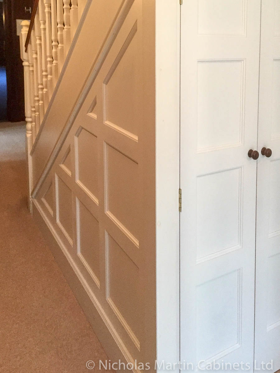 Understairs Storage Cabinet with Panelling